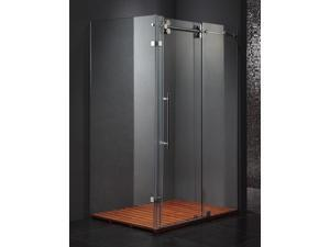 36 in. x 60 in. Frameless Clear Shower Enclosure