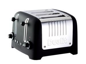 Black Soft Touch Traditional Style 4 Slice Toaster