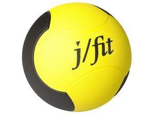 8 lbs. Premium Rubberized Medicine Ball in Yellow & Black