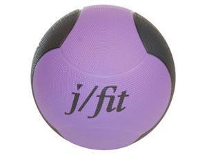 10 lbs. Premium Rubberized Medicine Ball in Purple & Black