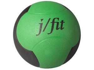 12 lbs. Premium Rubberized Medicine Ball in Green & Black