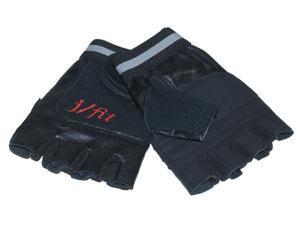 J Fit Men's Weightlifting Gloves in Black & Red (Medium)