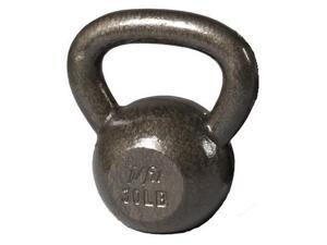 J Fit 30 lbs. Cast Iron Kettlebell in Gray Finish