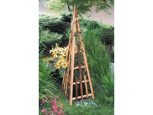81 in. Pyramid Trellis in Natural Cedar Finish