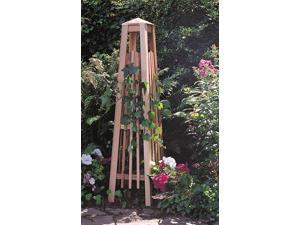 Manhattan Obelisk Trellis in Natural Cedar Finish