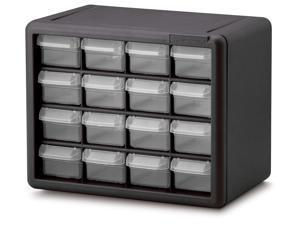 16 Drawer Storage Cabinet in Black