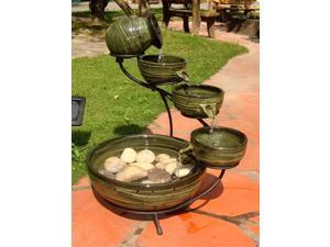 Bamboo Ceramic Solar Cascade - Amazon Jungle finish