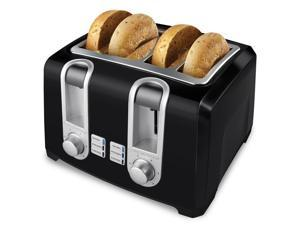 Black and Decker 4-Slice Toaster in Black