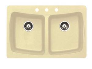 Alpha Standard Double Bowl Kitchen Sink - SK01927 (Sahara Stone)