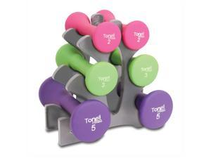Tone Fitness 20 lbs. Hourglass Shaped Dumbbells