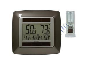 Solar Atomic Clock with Temperature Station and Sensor