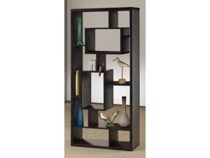 Asymmetrical Cube Bookcase in Black Finish