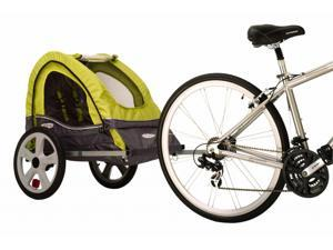 Sync Single Bicycle Trailer in Green and Gray