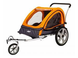 Quick N EZ Double Bicycle Trailer in Orange and Gray