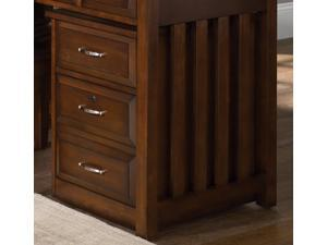 Mobile File Cabinet in Cherry Finish