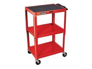 Adjustable AV Cart w 15 ft. Cord in Red