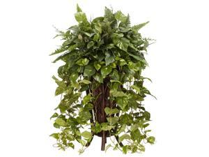 Vining Mixed Greens w Decorative Stand Silk Plant