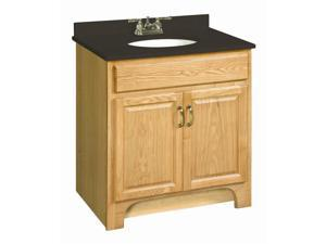 Design House 541144 Richland Nutmeg Oak Vanity Cabinet with 2-Doors, 30-Inches by 18-Inches - 541144