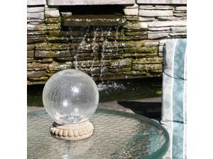 Chameleon Crackled Glass Solar Gazing Ball On Stand