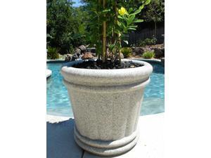 KutStone Roman 44 in. Planter Urn - Speckled Granite