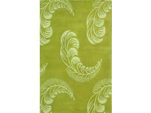 Floral Area Rug In Light Green - 8 ft. x 5 ft.