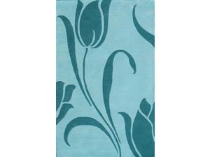 Floral Area Rug In Light Blue - 11 ft. x 8 ft.