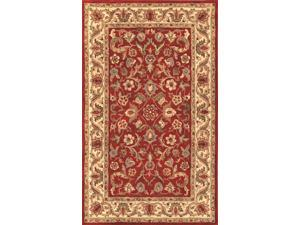 Harmony Area Rug In Red-Beige - 8 ft. x 5 ft.