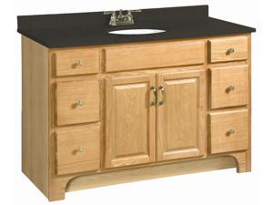 Design House 530410 Richland Nutmeg Oak Vanity Cabinet with 2-Doors and 4-Drawers, 48-Inches by 33.5-Inches - 530410