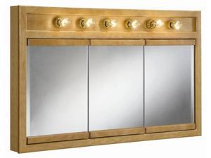 Design House 530626 Richland Nutmeg Oak 6-Light Tri-View Wall Cabinet, 48-Inches by 30-Inches - 530626
