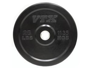 VTX 25 lb. Black Rubber Bumper Plate