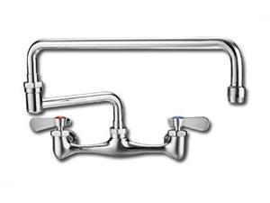 Wall Mount Kitchen Laundry Faucet in Polished Chrome