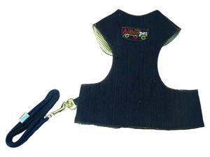 Dark Blue Denim Dog Jacket w Matching Leash