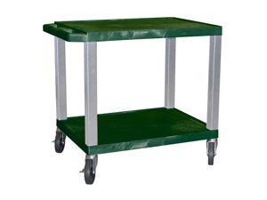 Tuffy Plastic AV Cart w Hunter Green Shelves