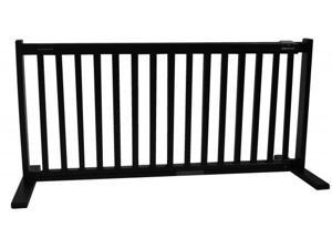20 in. H All Wood Large Freestanding Gate in Black Finish