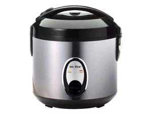 Sunpentown 4 Cups Rice Cooker w Stainless Steel Body & Auto Keep Warm System