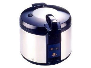 Sunpentown 26 Cups Stainless Steel Rice Cooker w Measuring Cup & Scooper