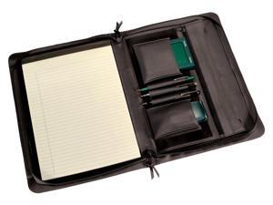Leather Executive Zip Around Pad folio with Accessory Pockets