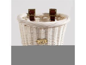 Cruiser Child Size Oval Bicycle Basket in White
