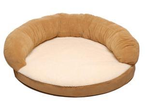 Ortho Sleeper Bolster Dog Bed (42 in. L x 12 in. W - Caramel)