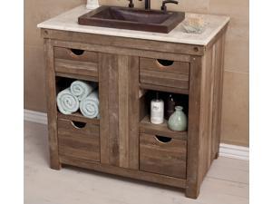 Vintner's Floor Vanity Cabinet in Chardonnay Finish
