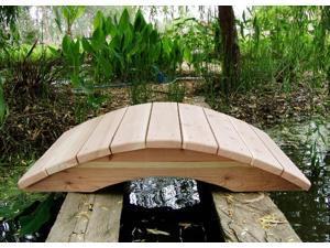 4 ft. Redwood Garden Bridge - No Posts (4 ft. No Posts Bridge)