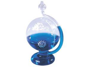 Hand-Blown Glass Sun & North Wind Weatherball Barometer