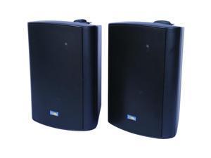 Indoor/Outdoor 120-Watt Speakers w 70-Volt Switching (Black)