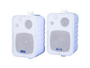Indoor/Outdoor 3-Way 50-Watt Speakers (White)