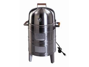Deluxe Electric Smoker Grill in Stainless Finish