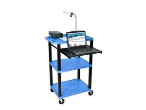Tuffy 18 in. Portable Presentation Cart in Blue