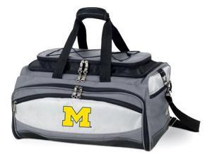 Buccaneer Embroidered Tote in Grey/Black - University of Michigan Wolverines