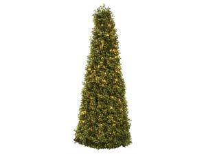 39 in. Boxwood Cone Tree with Lights