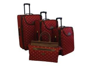 4 Pc Flyer Lyon Luggage Set in Red