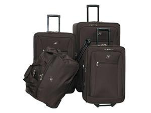 4 Pc Brooklyn Collection Luggage Set in Brown